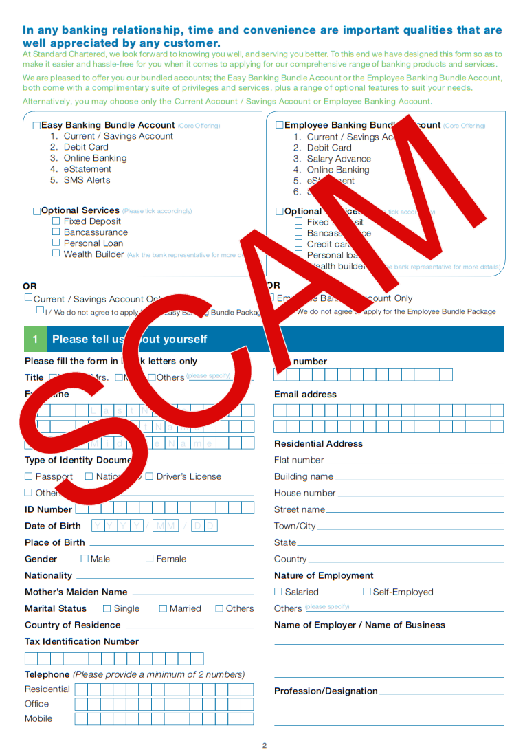 Account opening caught in the act standard chartered bank nigeria 1 2 falaconquin